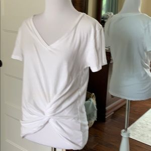 Zsupply white tee with bottom gathering